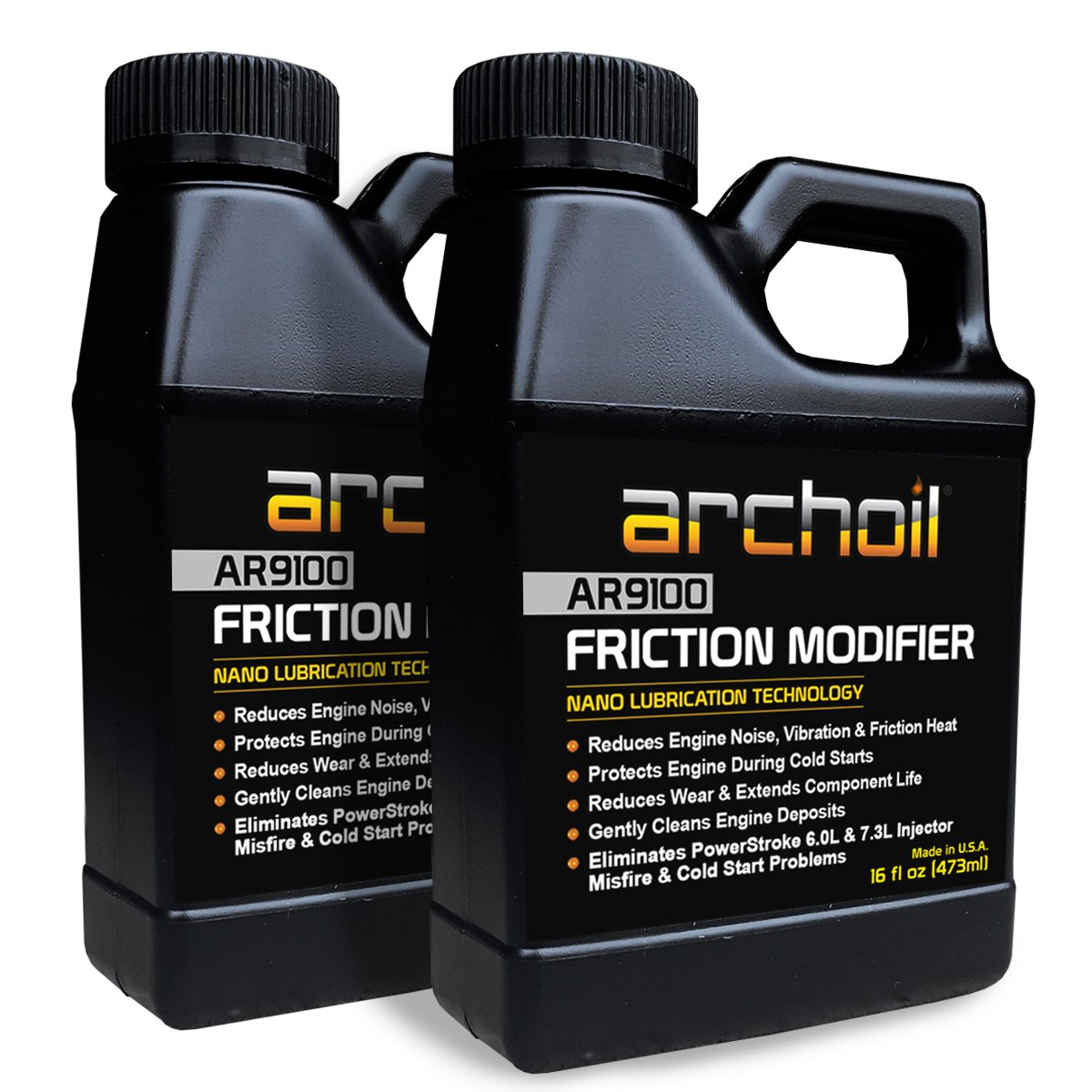 Archoil AR9100 Friction Modifier VALUE PACK - TWO 16oz Bottles of AR9100 for TWO PowerStroke Treatments by Archoil