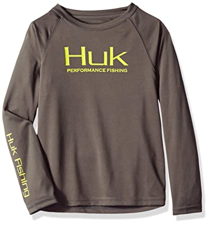 d99f4140902 Amazon.com  Huk Youth Performance Raglan Long Sleeve  Sports   Outdoors