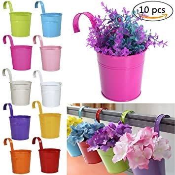 Blumentopf Zum Hangen Sortiert 10 Pcs Bunt Amazon De Computer