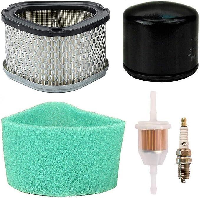 Filtro de aire de Carkio pre limpiador de aceite filtro de combustible bujía reemplazo para John Deere LT133 LT150 LT155 STX30 STX38 LX173 LX255 GT225 SST