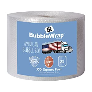 """American Bubble Boy Bubble Wrap Official Sealed Air Bubble Wrap - 350 Feet X 3/16"""" X 12"""" - Perforated Every 12"""" - American Bubble Boy"""