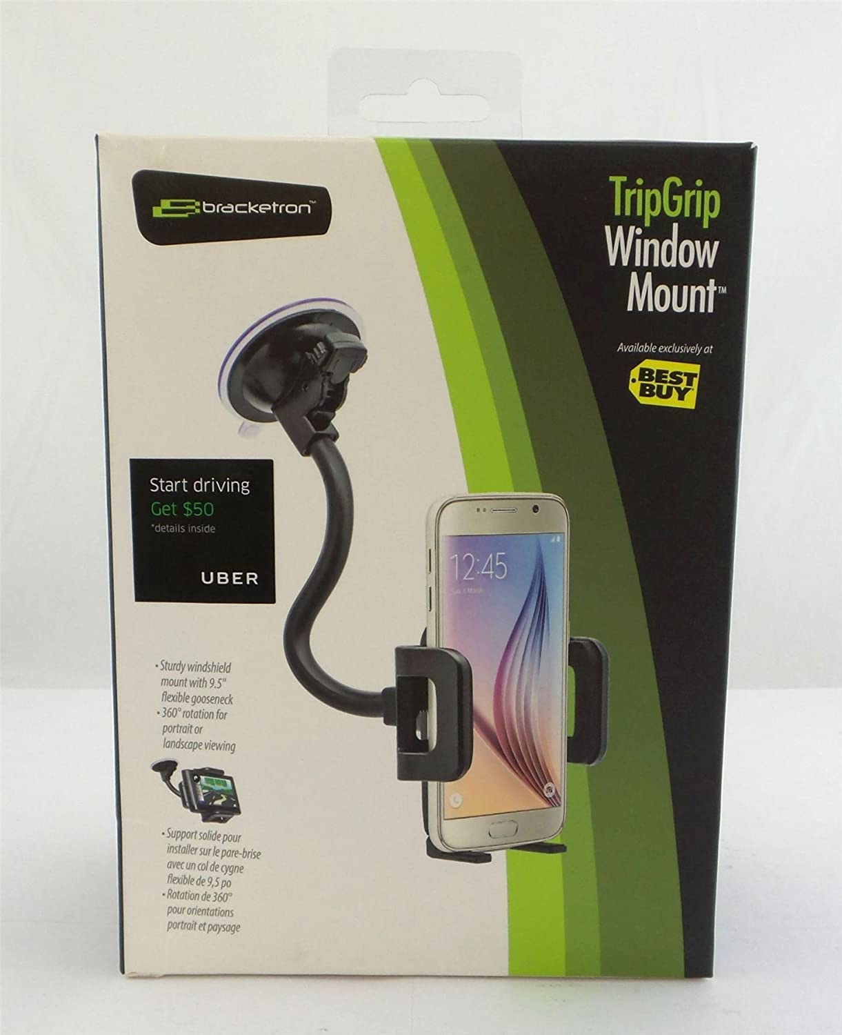 Bracketron TripGrip Car Window Mount for Mobile Phones Black BT1-666-2 4327085961
