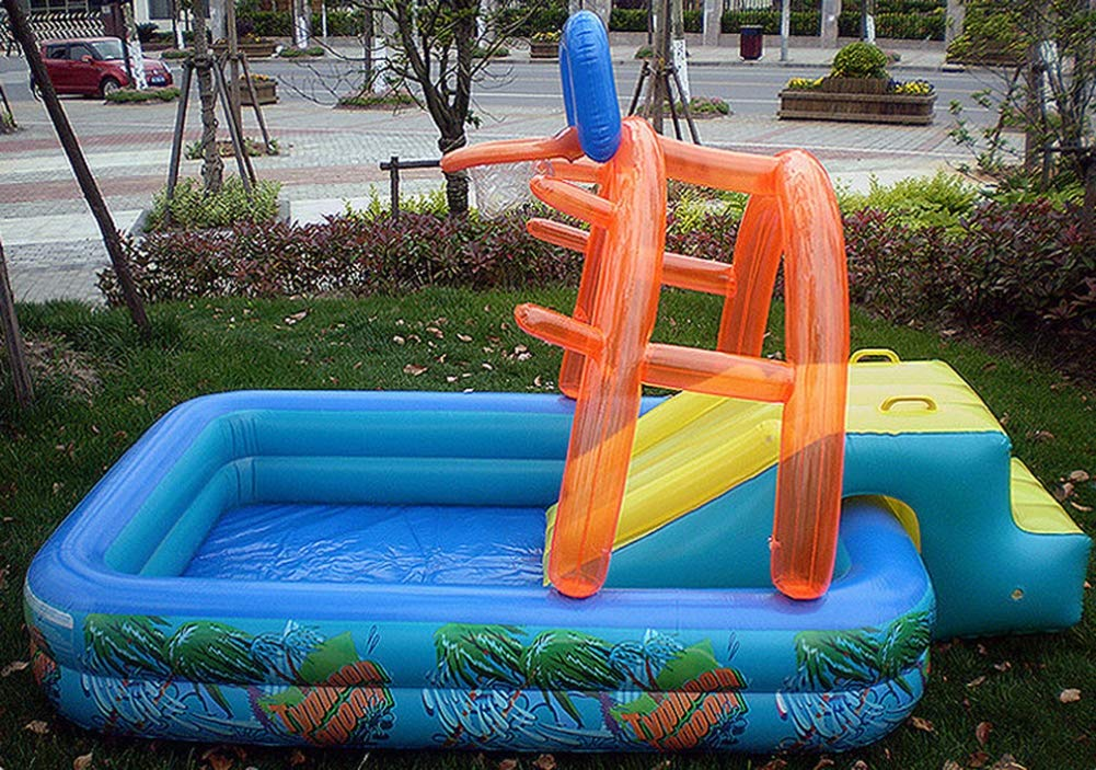 Uhruolo Inflatable Paddling Pool,Water Games Centre with Slide for Kids Slide by Uhruolo (Image #4)
