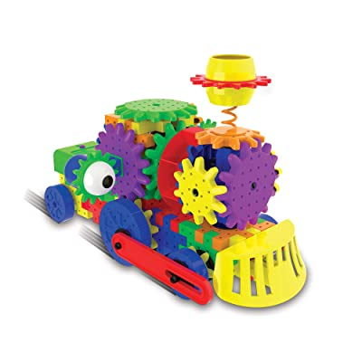 The Learning Journey Techno Gears STEM Construction Set – Crazy Train (60+ Pieces) – Learning Toys & Gifts for Boys & Girls Ages 6 Years and Up: Toys & Games