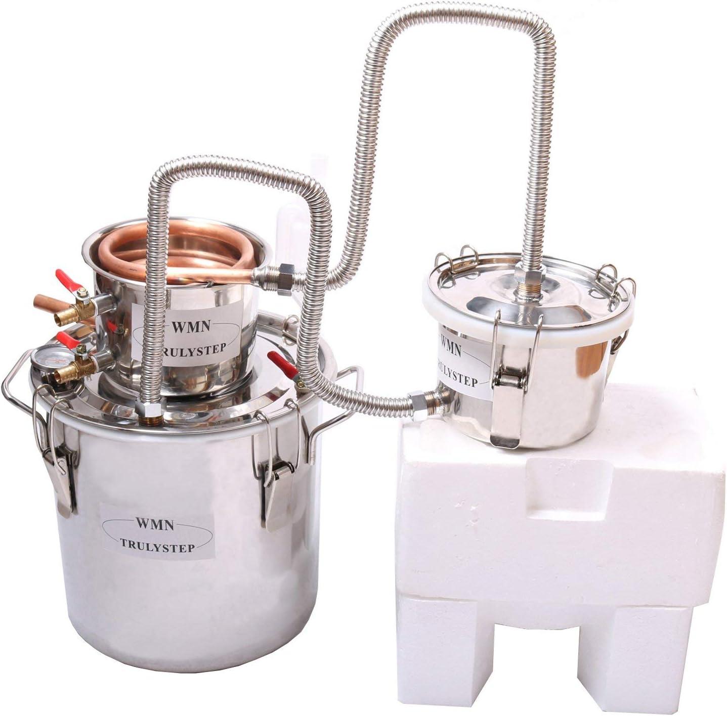 30L Kit de destilación de acero inoxidable,para la elaboración casera de vino, alcohol, cerveza o destilación de agua,puede ajustar una gran cantidad de gustos