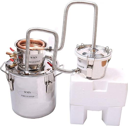 10L Kit de destilación de para el hogar destilador de acero inoxidable; para la elaboración casera de vino, alcohol, cerveza o destilación de agua: Amazon.es: Hogar