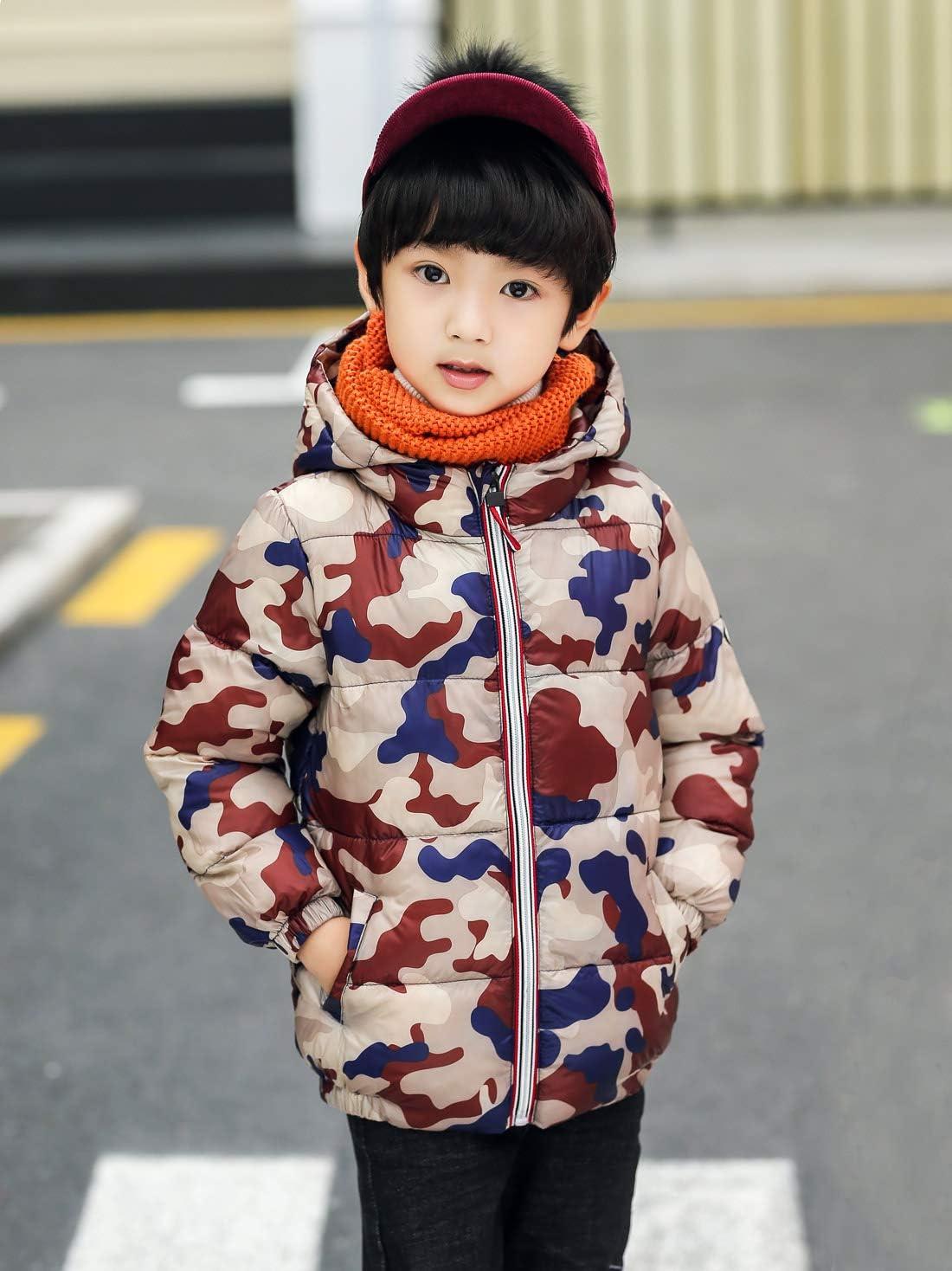 AIEOE Baby Boys Down Coats Lightweight Winter Puffer Hooded Jackets 1-5 Years