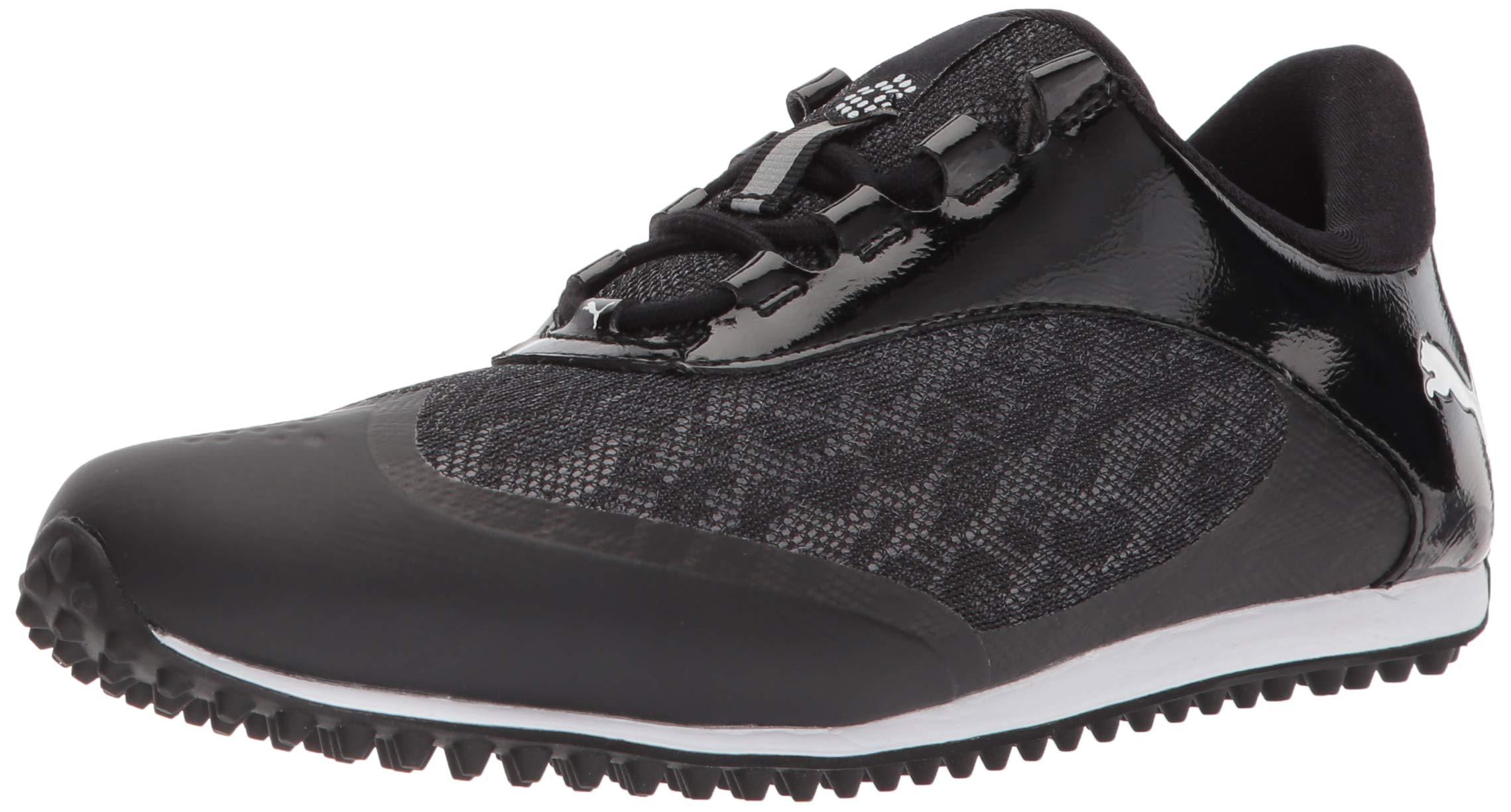 PUMA Golf Women's Summercat Sport Golf Shoe, Black/White, 7.5 Medium US by PUMA
