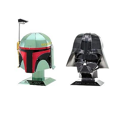 Fascinations Metal Earth 3D Metal Model Kits Star Wars Helmet Set of 2 - Darth Vader - Boba Fett: Toys & Games