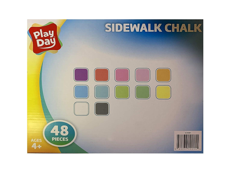 Play Day 48-Piece Wont Roll Away Sidewalk Chalk