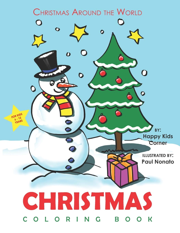 Christmas Around The World Catalog 2019.Christmas Coloring Book For Kids 6 To 12 Years Christmas