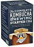 The Complete Kombucha Brewing Starter Kit: Live Kombucha SCOBY- Fermented Starter Tea - Glass Brew Jar - Sugar & Tea - Instructions & Recipes + More!