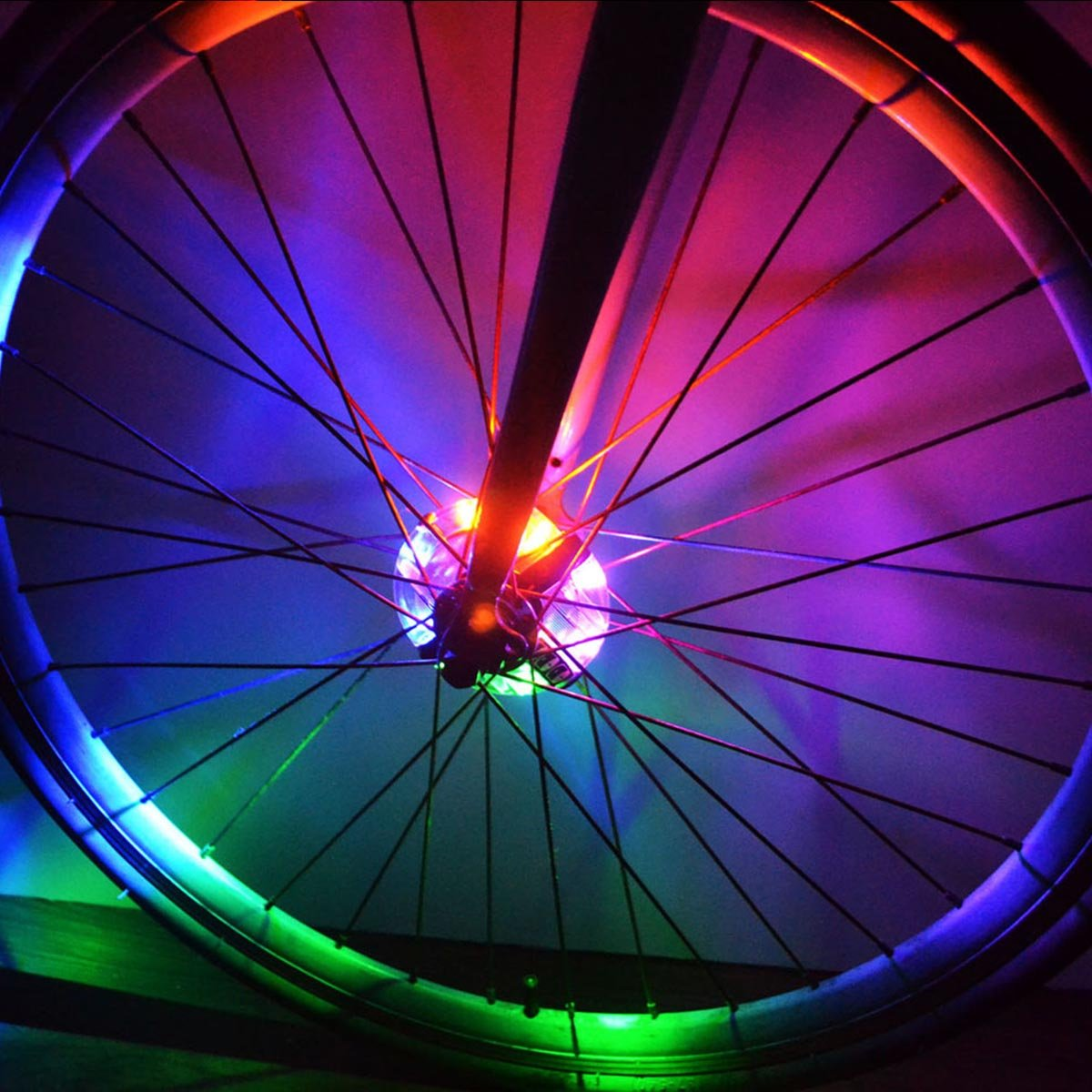 Colorful LED Bicycle Wheel Decoration Lights 3 Modes Cycling Bike Spoke Light Safety Light by LoveUlife (Image #3)