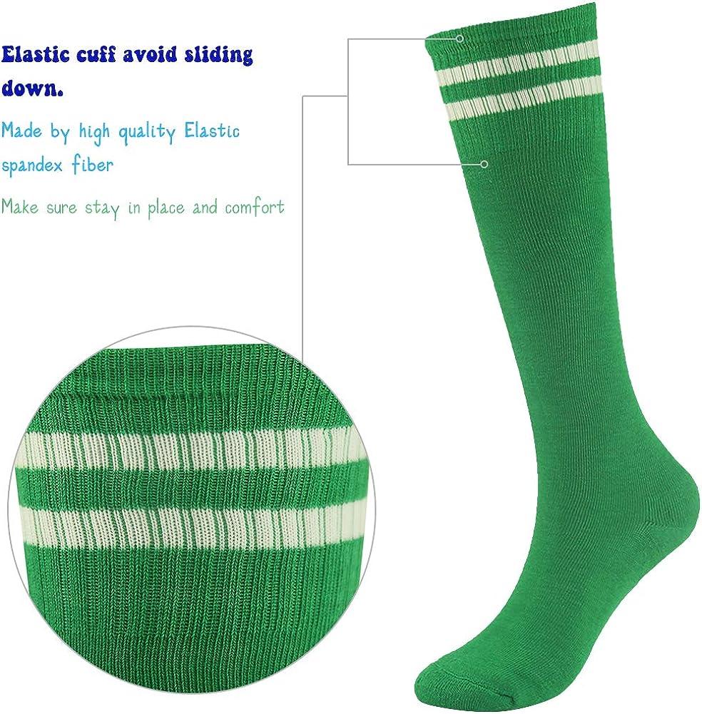 Youth Soccer Socks Fasoar Teens Knee High Rugby Baseball Socks Long Tube Socks 2//6//10 Pack
