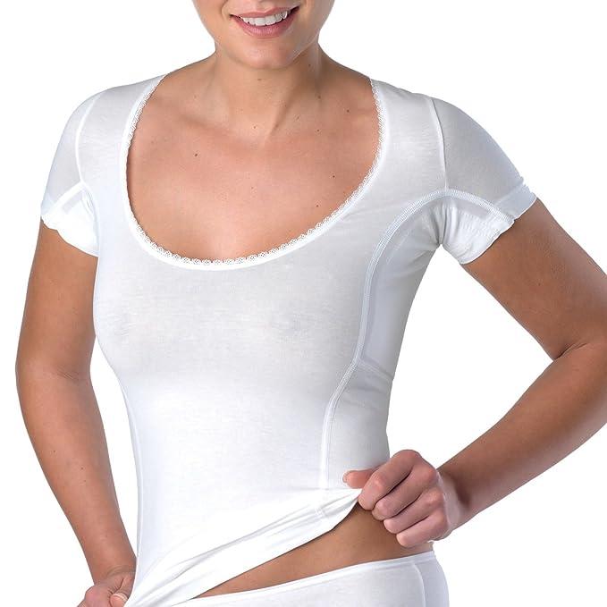laulas Camiseta funcional sudor axilar - con cavidad axilar para toallitas absorbentes - infalible contra las manchas de sudor - calidad suiza.