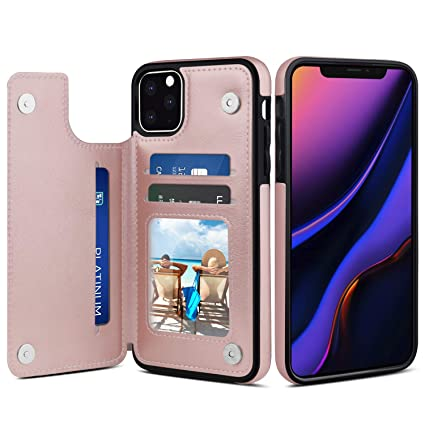 Amazon.com: Venoro - Funda para iPhone 11 Pro, tarjetero, de ...