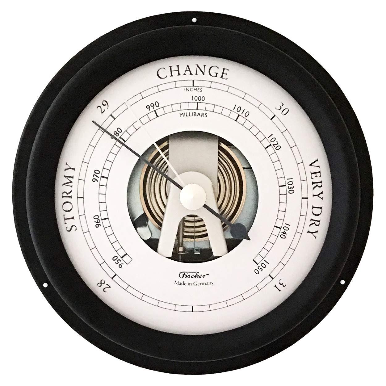 Fischer Maritime Barometer Black, Diameter 125 mm (Face 85 mm) - 1508B-06
