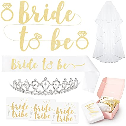 Amazon xo fetti bachelorette party bride to be decorations kit xo fetti bachelorette party bride to be decorations kit bridal shower supplies sash junglespirit Gallery