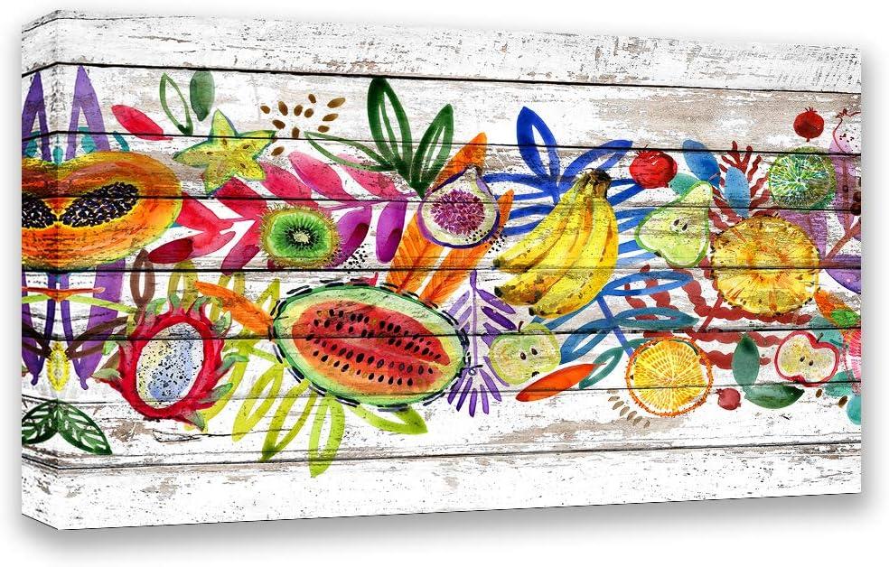 Orlco Art Aquarel Jungle Natuur Plant Fruit Leuke Afbeeldingen Schilderijen Canvas Prints Abstracte Decoratie Tekenen Mode Kleuren Op De Muren 16 X 12 Amazon Nl
