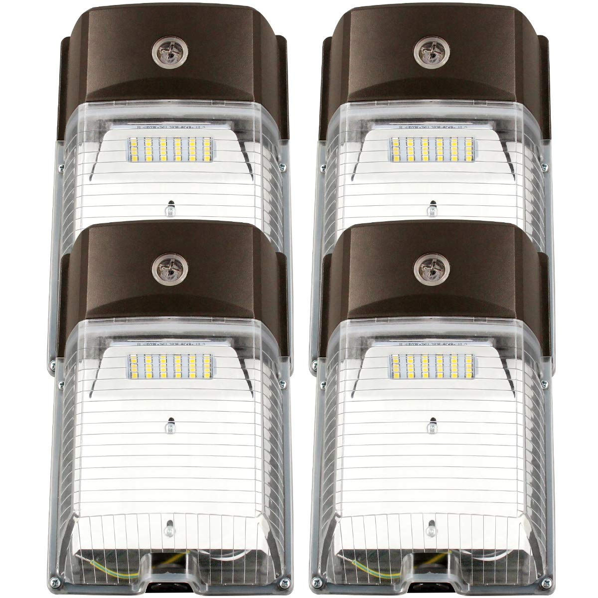 26W 1PK ZJOJO Outdoor//Entrance Security Light 5-Year Warranty LED Wall Pack Light 26W 3000lm(Photocell Included),120-277V 5000K Daylight cETLus-Listed Dusk to Dawn 150-250W MH//Hps Replacement 5000K
