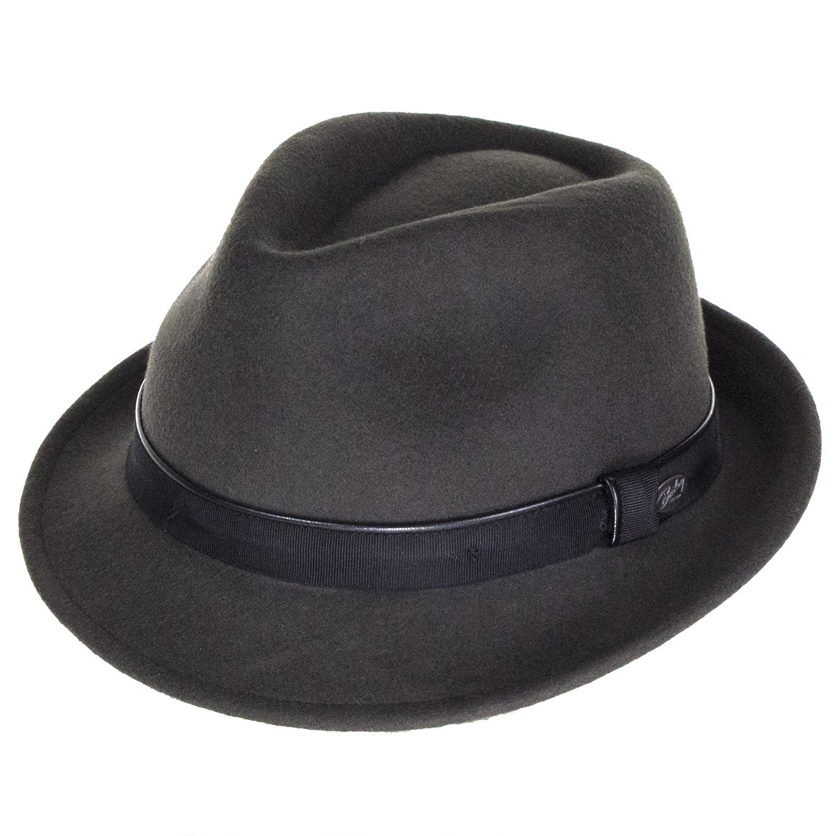Bailey Hats Ike Wool Felt Trilby - Grey