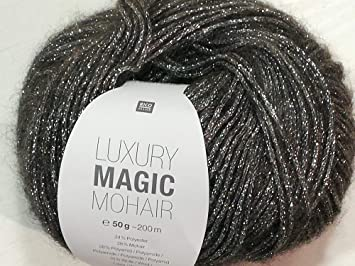 Amazonde Rico Luxury Magic Mohair F 04 Anthrazitsilber Wolle