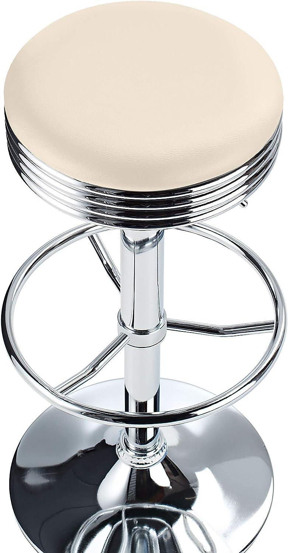 American Diner Style Bar Stool, Cream Amazon.de Küche & Haushalt