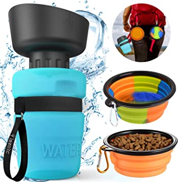 Pet Water Bottle for Dogs 2 in 1 Drinking Cup Dispenser