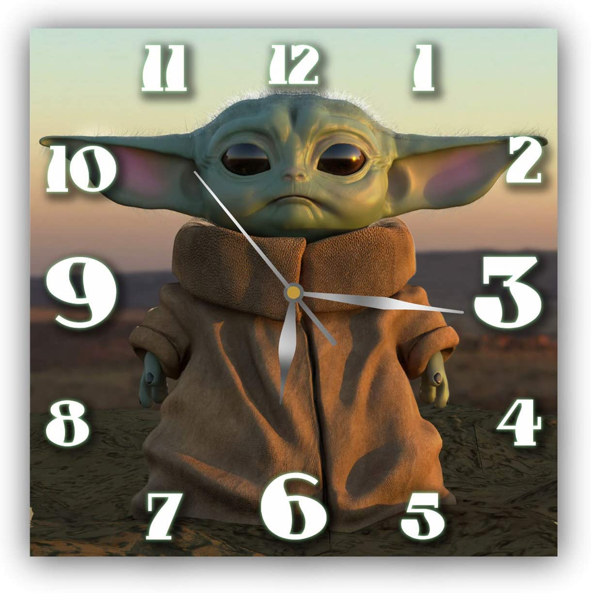 Exclusive Clock Baby Yoda – Unique Item for Home and Office, Original Present for Every Occasion.