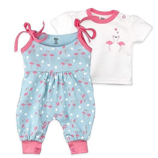 Baby Sweets Mädchen Strampler und Shirt türkis rosa Made with Love
