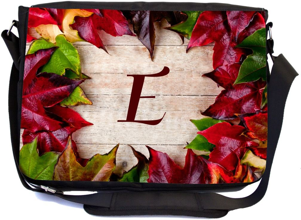 b06775f966 best Rikki Knight Letter E Initial Rustic Fall Leaves on Wood Design ...