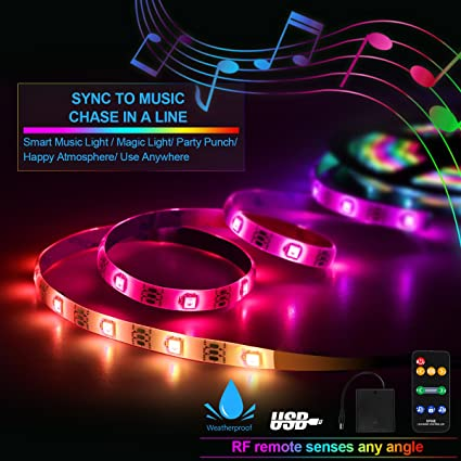 Outdoor lights smart party lights battery light strip battery outdoor lights smart party lights battery light strip battery operated usb powered sync aloadofball Image collections