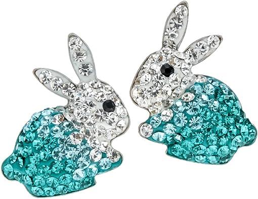 Solid Sterling Silver Rabbit Stud Earrings