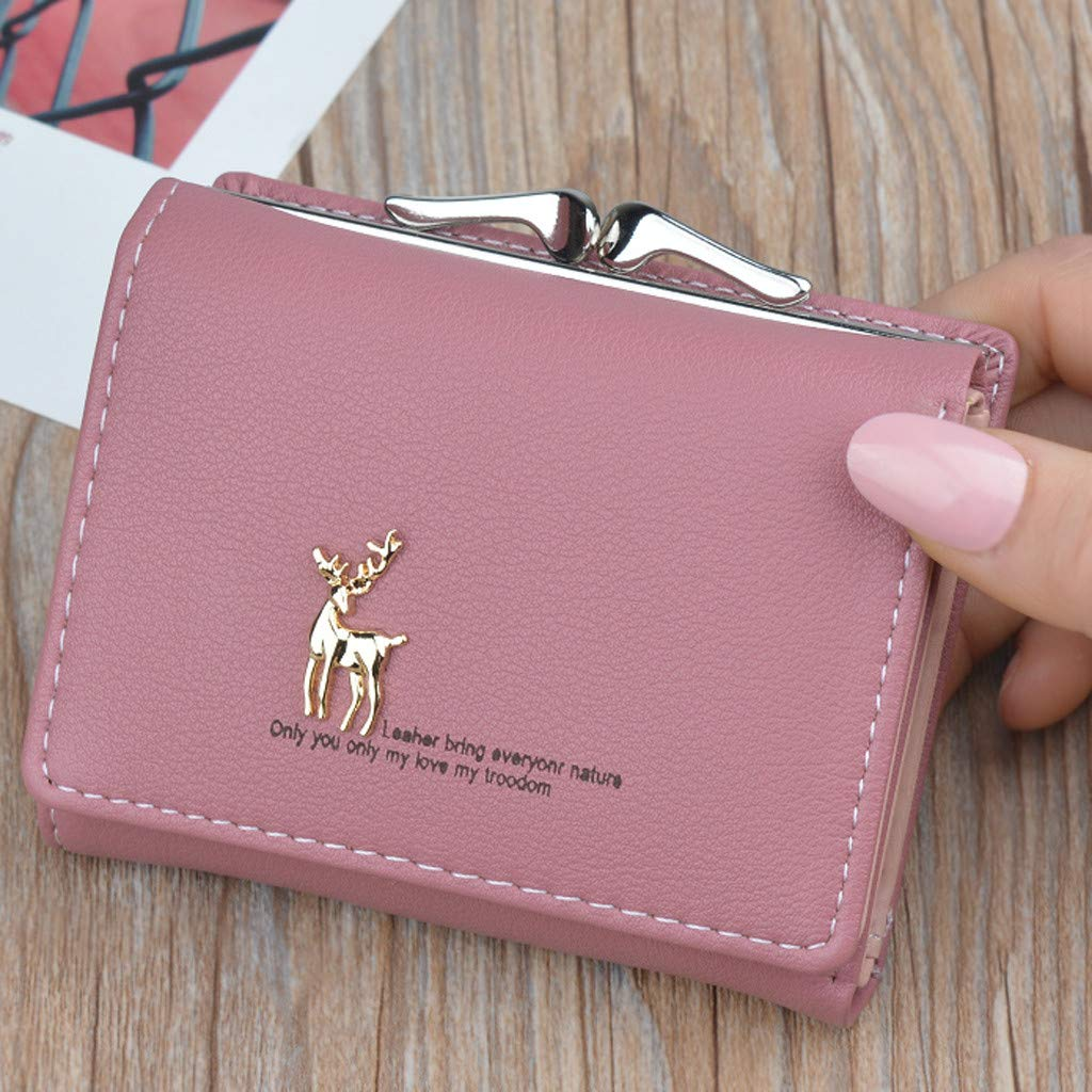 Women Wallets ZhixiaYS Short Simple Deerlet Mini Coin Purse Card Holder Bag Money Purse