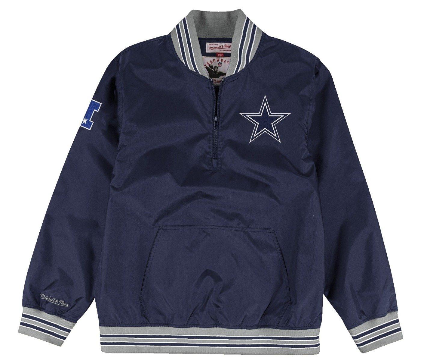 Mitchell & Ness Dallas Cowboysメンズ1 / 4 Zipナイロンプルオーバーウィンドブレーカージャケット 3L  B073SCG5G5