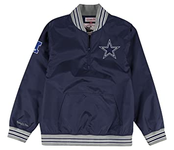 online store 7934a f0046 Mitchell & Ness Dallas Cowboys Mens 1/4 Zip Nylon Pullover Windbreaker  Jacket