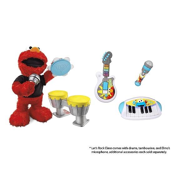 amazon com playskool sesame street let s rock grover microphone rh amazon com