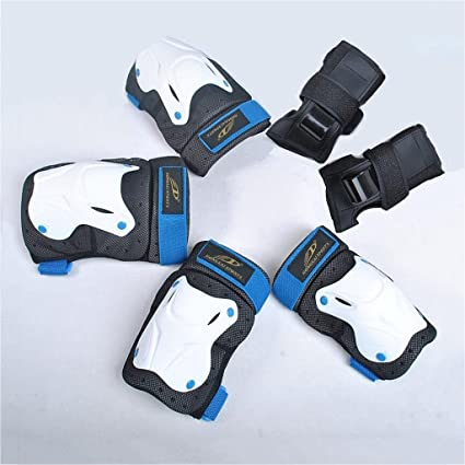 BMX Bike Knee Pads and Elbow Pads with Wrist Guards Protective Gear New Kids 6PC