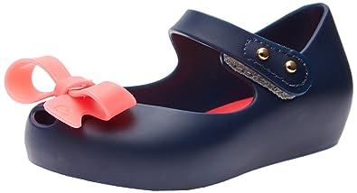 bf418030441 Mini Melissa Ultragirl Bow Flat ,Blue/Pink,5 M US Toddler
