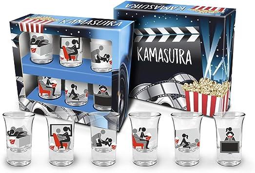 Set de 6 Vasos de chupito del Kamasutra. Divertidos chupitos con posturas para retar, Jugar y Realizar con tu Pareja: Amazon.es: Juguetes y juegos