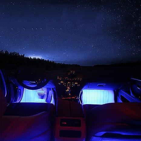 Possbay coche luces interiores de neón de 36 LED de la lámpara de la decoración del piso ambiente colorido con el regulador: Amazon.es: Coche y moto