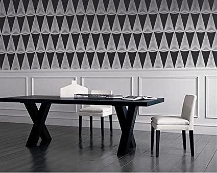 Stencil for Walls - Art Deco Triangles Pattern - Repeating ...