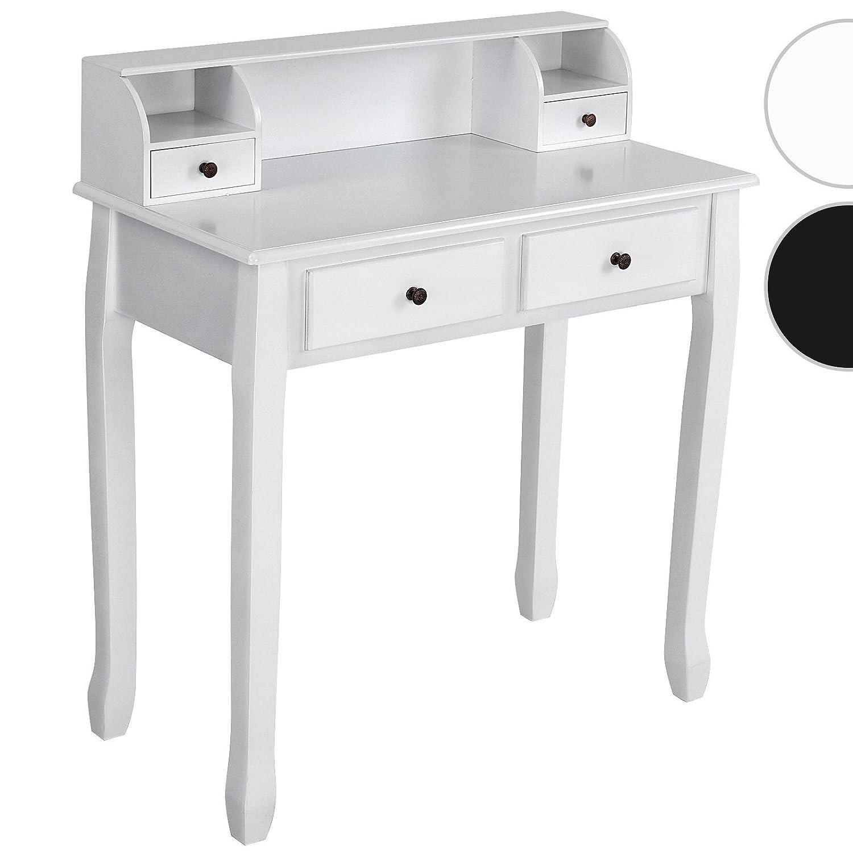 Miadomodo - Coiffeuse en bois laqué blanche - 4 tiroirs - élément rehaussé amovible - DISPONIBLE EN BLANC ET EN