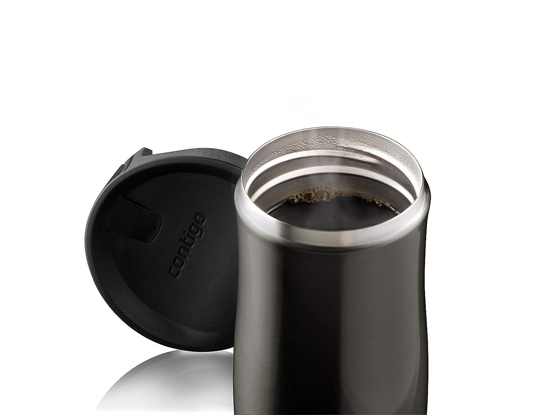 auslaufsicher Edelstahl Isolierbecher 470 ml Contigo Thermobecher West Loop Autoseal Kaffebecher to go sp/ülmaschinenfester Deckel BPA-frei
