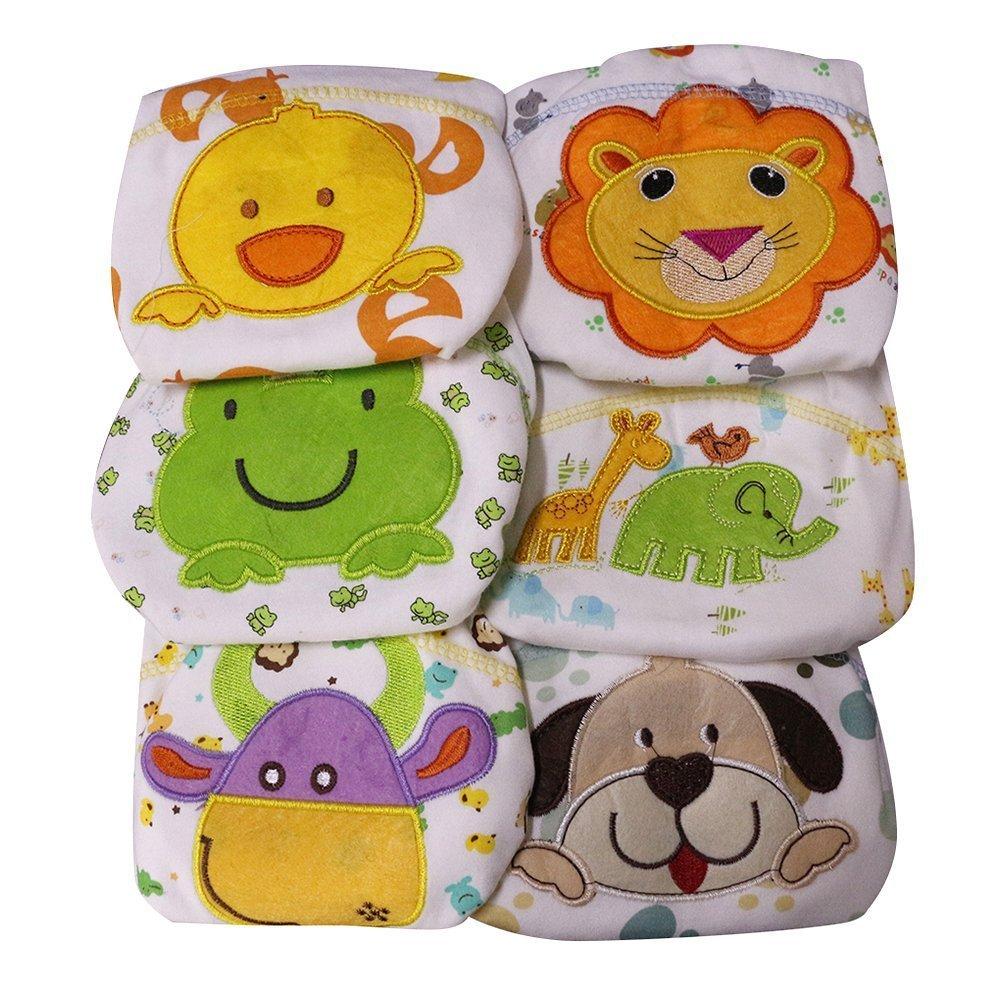 Tongchou 6pcs Bragas de Aprendizaje Calzones de Entrenamiento para Bebe Nina Nino Tamano 80