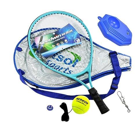 freahap – Raqueta de tenis infantil con accesorios entrenamiento principiantes Senior, azul