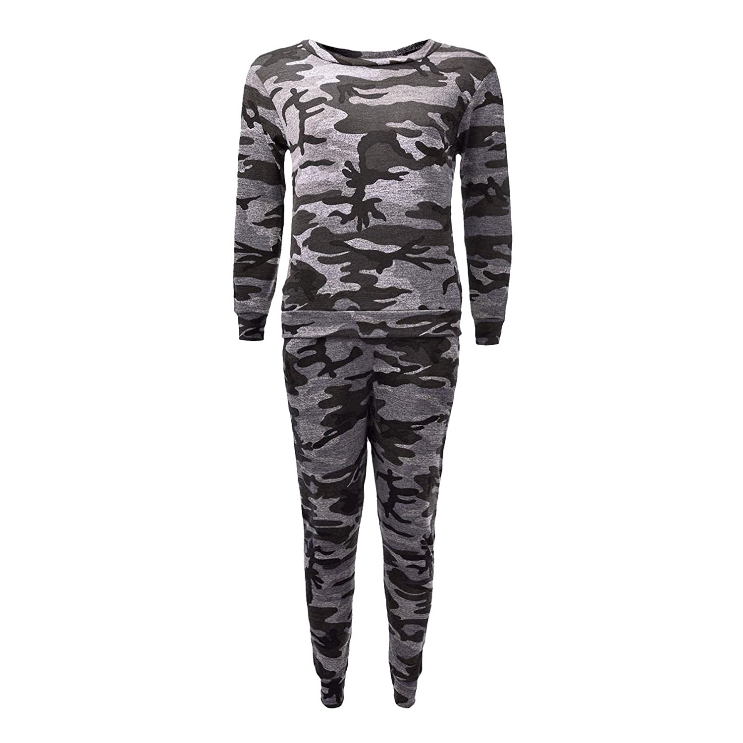 Neue Mädchen Kinder Camo Camouflage Print Trainingsanzug Co-Ord Set Sweatshirt Jogger Alter.