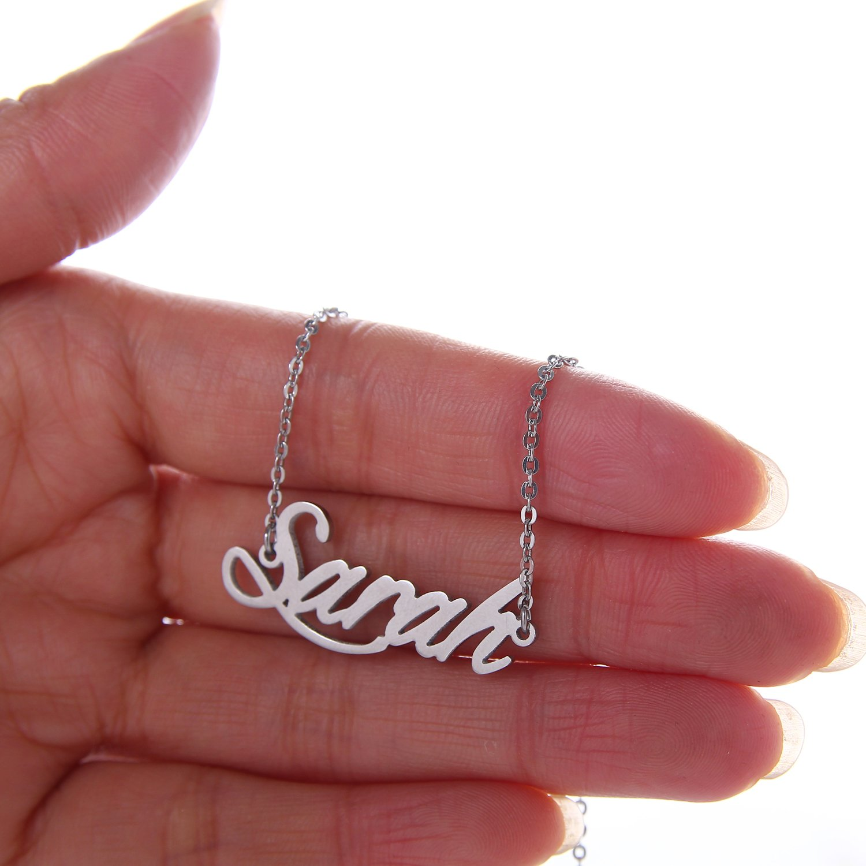 HUAN XUN Personalized Name Sarah Custom Necklace Daily Wear Jewelry