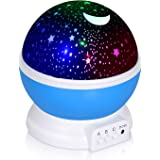 Adoric Night Lighting Lamp, Star Light Rotating Projector, 4 LED Bulbs 8 Modes for Children Kids Bedroom (3.2FT USB Cord)