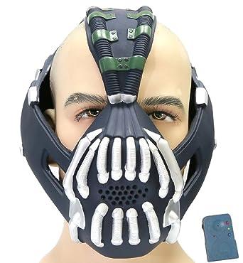 Batman Bane Máscara con Voice Changer / Modulador, Adulto Xcoser